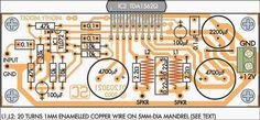 Mighty Midget 36W Audio Amplifier Circuit PCB