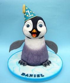 3D baby penguin cake - Cake by Karen Geraghty