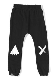 Black Drop Crotch Pant100% ORGANIC COTTON