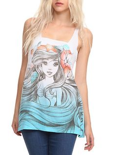 Disney The Little Mermaid Ariel Sketch Tank Top | Hot Topic on Wanelo