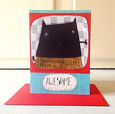Awesome  A Crap Cat Thank You card by AngelaSmyth on Etsy, £2.50