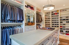 There is a place for absolutely everything in this amazing closet, located in this Chicago, IL home!