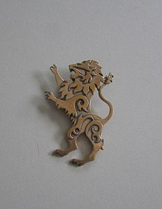 Lion Brooch or Pendant in Bronze by MasterArks on Etsy