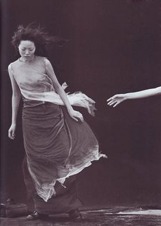 "'A Windy Summer"" by Peter Linbergh styled by Anna Dello Russo for Vogue Italia May 1999"