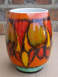 Poole Pottery Delphis Vase Abstract Design 1970's Retro Car Boot Sale Find Summer 2012