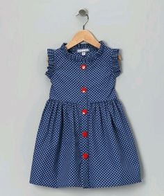 Any little fairy princess will flutter in this polka dot picnic dress. With super-soft material, resplendent ruffles and an easy button-up silhouette, this piece simply soars. Frocks For Girls, Dresses Kids Girl, Little Girl Dresses, Vintage Girls Dresses, Dress Vintage, Vintage Style, Baby Girl Fashion, Fashion Kids, Fashion Design