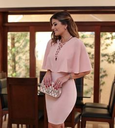 Use a pink dress for a stylish and cool result. Elegant Dresses, Cute Dresses, Beautiful Dresses, Casual Dresses, Short Dresses, Fashion Dresses, Mini Dresses, The Dress, Pink Dress