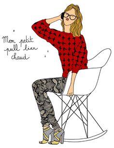 It's cold outside! http://www.doitinparis.com/fr/mode-femme/le-look-de-la-semaine/les-petits-pulls-bien-chauds-1796/ #look #fashion