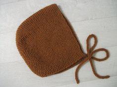 Ness Créative - Béguin caramel, 4 ans tricoté main
