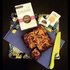 Justin's + Lillabee Gluten-Free Peanut Butter Swirl Brownies