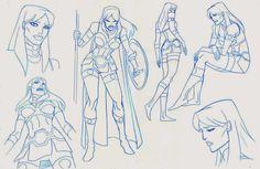 Character Model Sheet, Female Character Design, Character Design References, Character Concept, Character Art, Concept Art, Lauren Montgomery, Storyboard Artist, Superhero Design