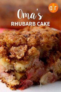 Rhubarb cake recipes - Oma's Rhubarb Cake Excellent recipe! My husband's grandmother called me for the recipe and I've been bragging that grandma wanted one of my recipes! It was so moist allrecipes cakerecipes ba My Recipes, Sweet Recipes, Baking Recipes, Favorite Recipes, Best Rhubarb Recipes, Rhubarb Recipes With Sour Cream, Gluten Free Rhubarb Recipes, Recipies, Instant Recipes