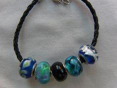 Bracelet Beaded Bracelet Jewellery Blue Clear by OswestryJewels