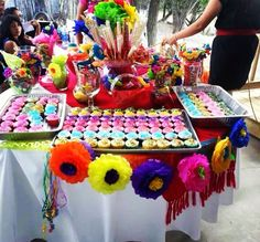 Candy table number two with Mexican treats. Thanks to my aunt!!