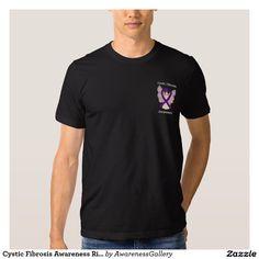 Cystic Fibrosis Awareness Ribbon Purple Angel Shirts