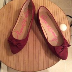 Rock and Candy dark red shoes. Cute fabric flats with a bow. Worn only three times. Excellent condition. Size 8. Rock and Candy Shoes Flats & Loafers