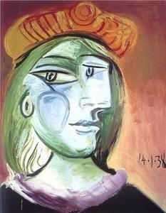 Femme avec un béret - (Pablo Picasso)