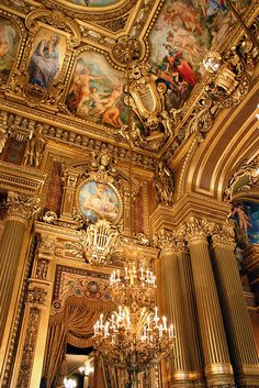 Grand Foyer, Opera House, Paris, France
