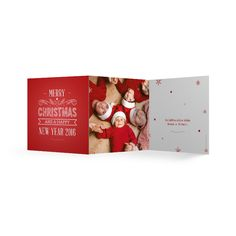 Kerstkaart 3-luik, met gepersonaliseerde foto en teksten. www.dekaartjesfabriek.be