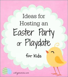 Ideas for Hosting an Easter Party or Playdate for Kids Easter Party Games, Kids Party Games, 2 Kind, Tape Crafts, Vbs Crafts, Spring Activities, Easter Crafts, Easter Ideas, Happy Easter
