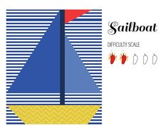 Sailboat pieced quilt pattern in PDF by ProtoQuilt on Etsy, $1.50