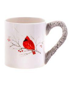 Winter Cardinal Mug #zulily #zulilyfinds