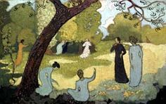 """Maurice Denis, July (from a set of 4 paintings for girl's bedroom - the others were """"April"""", """"September """" and """"October """")"""