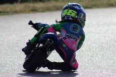 ABSOLUTELY! Check out this little girl sporting a Rossi helmet, full leathers, getting her knee down! GO GIRL!