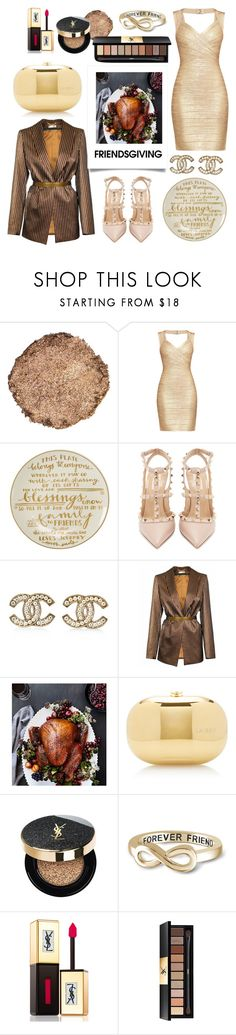 """""""Sparkle in Gold"""" by piglopherz ❤ liked on Polyvore featuring Illamasqua, Hervé Léger, Primitives By Kathy, Valentino, Chanel, JIRI KALFAR, Williams-Sonoma, Jeffrey Levinson, Yves Saint Laurent and Jewelonfire"""