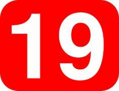 Resultado de imagem para numero 19