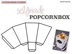 DIY Popcorn Box and Salt Caramel Popcorn Recipe - N .- DIY Popcorn Box basteln und Salz-Karamell Popcorn Rezept – Nicest Things * Nicest Things: DIY Salted Caramel Popcorn & Box – 12 GOLD party favor tips - Diy Popcorn, Popcorn Recipes, Pop Corn Box, Diy Birthday Box, Kino Party, Plotter Silhouette Cameo, Salted Caramel Popcorn, Gold Party, Diy Box