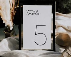A simple modern table sign for your next event. Make as many as you need. Fonts can also be changed as well. Comes in 4x6 and 5x7 Table Signs, Modern Table, Wedding Stationary, Wedding Table, Fonts, Etsy Seller, Place Card Holders, Simple, Creative