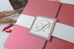 Conrad & Radda Wedding Invitation | Custom Invitations by Printsonalities: Your Personal Invitation Stylist #monogram