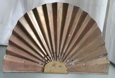 Copper Fan Designed Light Sconce, Shabby Chic Light Fixture, Vintage Home Decor, Rewired and Working Vintage Light, Metal Base by VintageCoolETC on Etsy