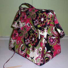 Serena Project Bag for knitting or crocheting by DianaCouture, $30.00