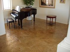 Light Brown Textured Concrete Floors Miracote Rancho Dominguez CA Stained Cement Floors, Cement Stain, Painted Concrete Floors, Painting Concrete, Floor Painting, Acid Stain, Acid Wash Concrete, Cement Texture, Concrete Contractor