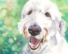 Goldendoodle Watercolor Giclee Fine Art Print by AquilaWatercolor