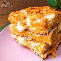 Millefeuille of vegetables - Healthy Food Mom Calabaza Recipe, Gourmet Recipes, Healthy Recipes, Pastry And Bakery, Lunch To Go, Food Decoration, Just Cooking, Pumpkin Recipes, Food Print