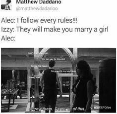 Matthew Daddario Alec Lightwood Shadowhunters Magnus Bane Malec Isabelle Lightwood