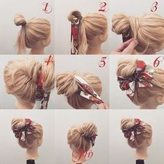 Gorgeous and easy updo for a casual chill day at the beach, pool party or any other occasion