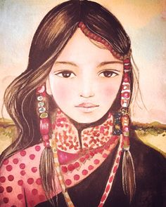 Serenah art print tibet inspired by claudiatremblay on Etsy