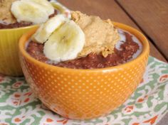 Fudgy Banana Steel-Cut Oatmeal with Peanut Butter