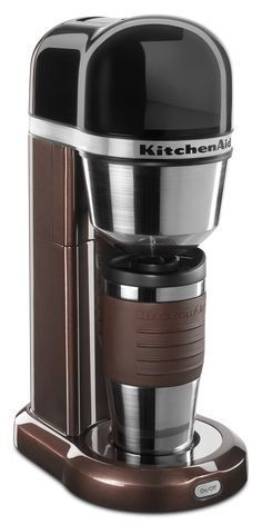 The compact design of this Kitchen Aid Coffee Maker leaves a small footprint, yet still short enough to fit under most kitchen cabinets.Thermal Mug with Lid Gold-Tone Filter KitchenAid Auto Kitchenaid Coffee Maker shut-off. Coffee Maker With Grinder, Single Cup Coffee Maker, Pod Coffee Makers, Coffee Maker Machine, Best Coffee Maker, Coffee Pods, Coffee Beans, Coffee Machines, Travel Coffee Maker