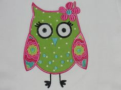 Pink, lime & an owl - what's not to love?