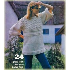 70s Knit Crochet Patterns Pullovers Ponchos Dresses Jackets & more