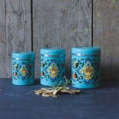 Round Frida Canisters - Set of 3