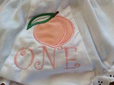Peach bloomer 1st birthday panty cover diaper cover by lettersandlollipops on Etsy