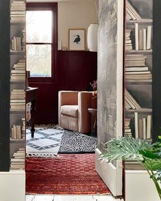 """@mad_about_the_house: """"It's taken 10 years, a loft conversion and a pandemic to work out which room I could work in. I…"""" Secret Space, Hidden Rooms, The Way Home, Hidden Storage, Home And Living, Oversized Mirror, Loft, Interior, Table"""