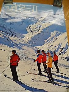 Original 1960s Austrian Tourism Travel Poster Skiing Winter Sports Tirol Austria | eBay