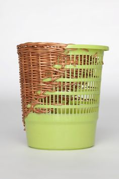 plastic is a notoriously difficult material to repair, and as such , many of the plastic items in our lives end up in the landfill if they become damaged. German designer Cordula Kehrer has developed an alternative, where damaged plastic bins and buckets, that would have otherwise ended up in the trash, are repaired using traditional weaving techniques.